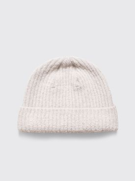 Our Legacy Knitted Hat Alpaca Fuzzy Dust White