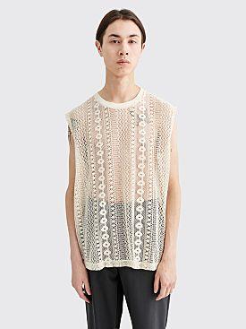 Our Legacy Box Sleeveless Crochet Off White