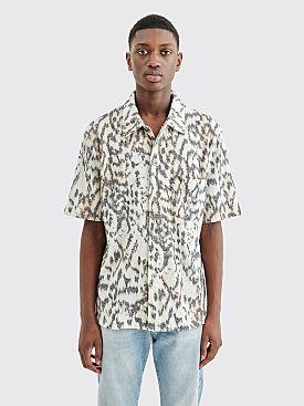 Our Legacy Box Shirt Tiger Print White