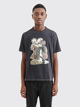 Our Legacy New Box T-shirt Snake Queen Washed Black