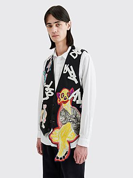 Our Legacy Waistcoat Peace Riot Embroidery Black