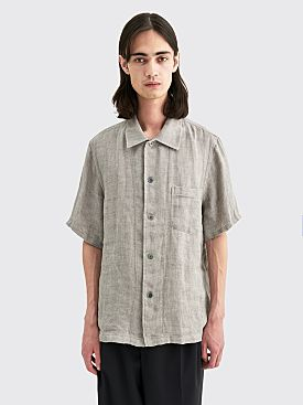 Our Legacy Linen Sack Box Shirt Grey