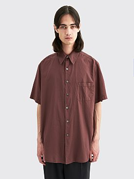 Our Legacy Borrowed Voile Shirt Shire Burgundy