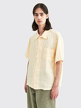 Our Legacy Linen Box Shirt Stripe Light Yellow