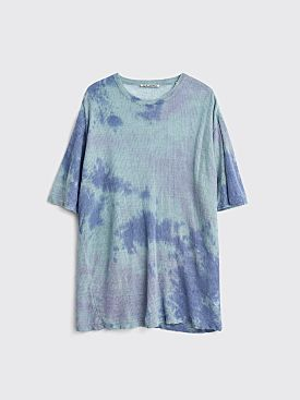 Our Legacy Knitted Box Tie Dye Linen T-shirt Sky