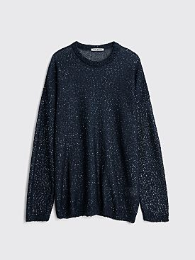 Our Legacy Popover Roundneck Sequin Storm Navy