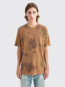 Our Legacy New Box T-shirt Tie Dye Camo Cord Beige