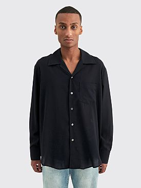 Our Legacy Loco Shirt Tech Wool Dark Navy