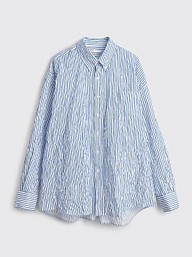 Our Legacy Borrowed BD Shirt Crinkled Stripe White / Blue