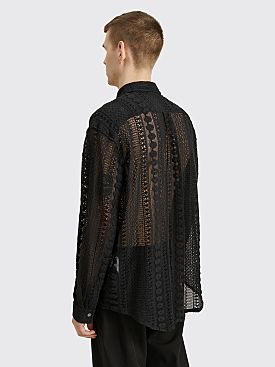 Our Legacy Coco Shirt Cotton Crochet Black