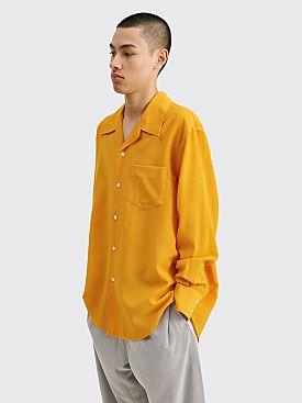 Our Legacy Loco Shirt Tech Wool Saffron Yellow