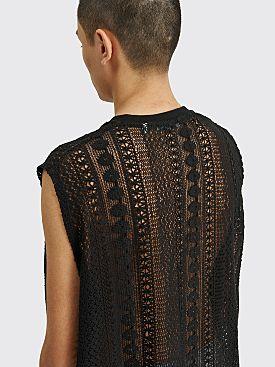 Our Legacy Box Sleeveless Cotton Crochet Black