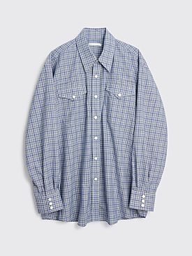Our Legacy Ranch Shirt Check Blue