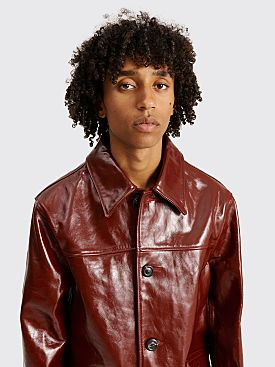 Our Legacy Buta Coat Oxblood Leather