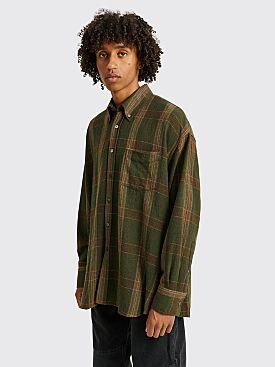 Our Legacy Borrowed BD Shirt Green Columbia Check