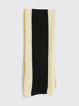 Our Legacy Ivy Scarf Striped Black / Ivory