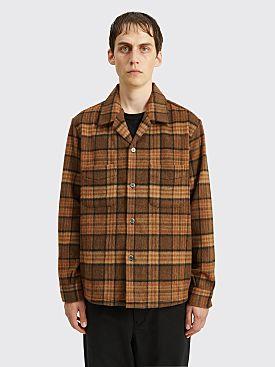 Our Legacy Heusen Shirt Fox Check Brown