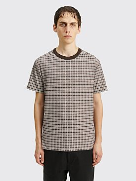 Our Legacy Perfect T-shirt Check Rib Brown / Beige