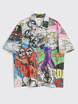Our Legacy Box Shirt Skeletorn Print Grey