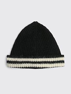 Our Legacy Knit Wool Hat Stripe Black