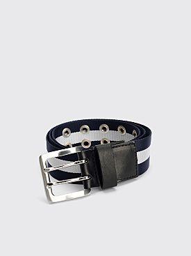 Our Legacy Ivy Stripe Belt Blue / White