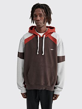 PHIPPS Universal Patchwork Hooded Sweatshirt Grey / Red