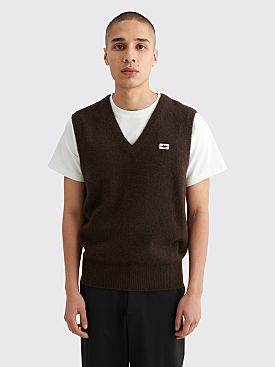 PHIPPS Inertia Knit Vest Dark Brown