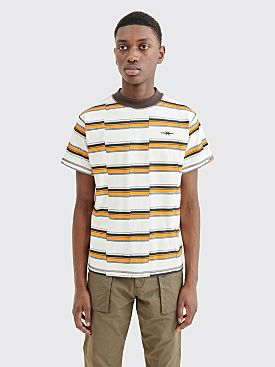 PHIPPS Tiny T-shirt Fautline Stripe White