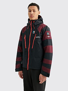 PHIPPS Rain Jacket Wine / Black
