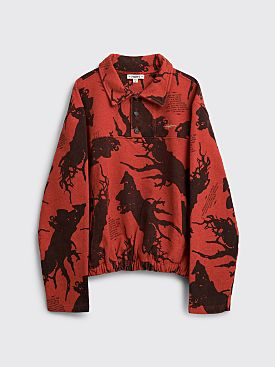 PHIPPS Digging Fleece Sweatshirt Red