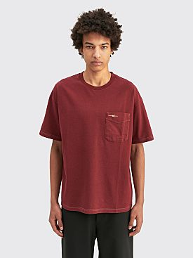 PHIPPS Pocket T-shirt Garment Dye Crimson
