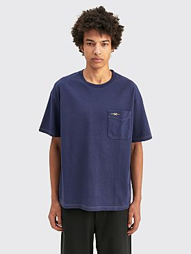 PHIPPS Pocket T-shirt Garment Dye Navy
