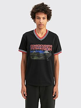 PHIPPS Consciousness Expansion Ringer T-shirt Washed Black