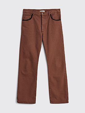 PHIPPS Boot Cut Jeans Saddle Brown