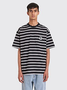 Polar Skate Co. Stripe Pocket T-shirt Black