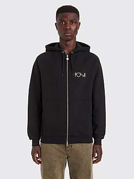 Polar Skate Co. Stroke Logo Zip Hooded Sweatshirt Black