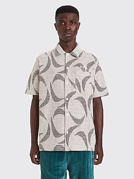 Polar Skate Co. Patterned Shirt Ivory / Black