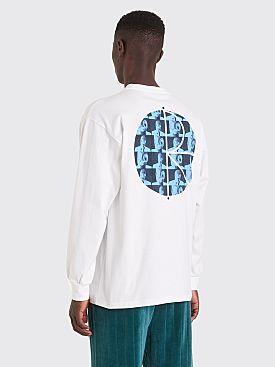 Polar Skate Co. Klez Fill Logo LS T-shirt White