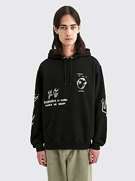 Polar Skate Co. Notebook Hooded Sweatshirt Black