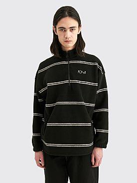 Polar Skate Co. Stripe Fleece Pullover 2.0 Black
