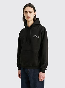 Polar Skate Co. 3 Tone Fill Logo Hooded Sweatshirt Black