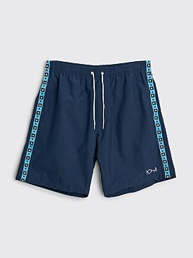 Polar Skate Co. Square Stripe City Swim Shorts Navy