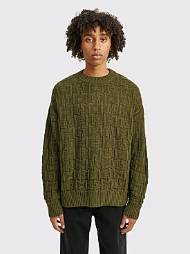 Polar Skate Co. Square Knit Sweater Army Green