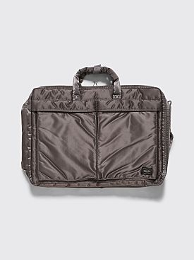 Porter Tanker 3 Way Briefcase Silver Grey