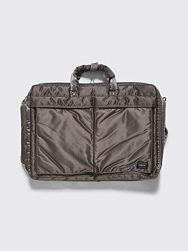 Porter Tanker 3 Way Briefcase Silver Grey