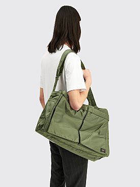 Porter Tanker 2Way Boston Bag Sage Small Green
