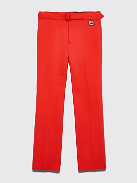 Prada Technical Jersey Pants Red