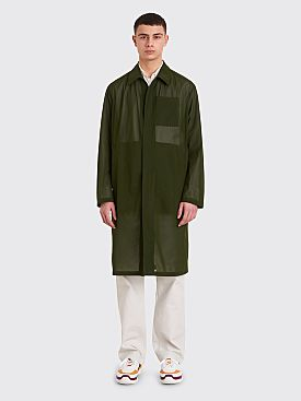 Prada Technical Muslin Coat Olive