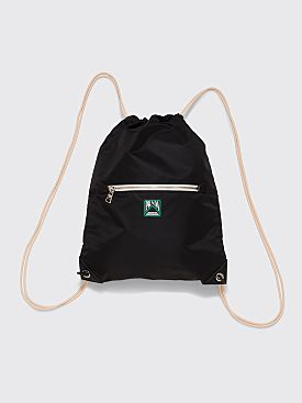 Prada Drawstring Backpack Logo Black