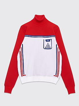 Prada Technical Turtleneck Two Tone White / Red